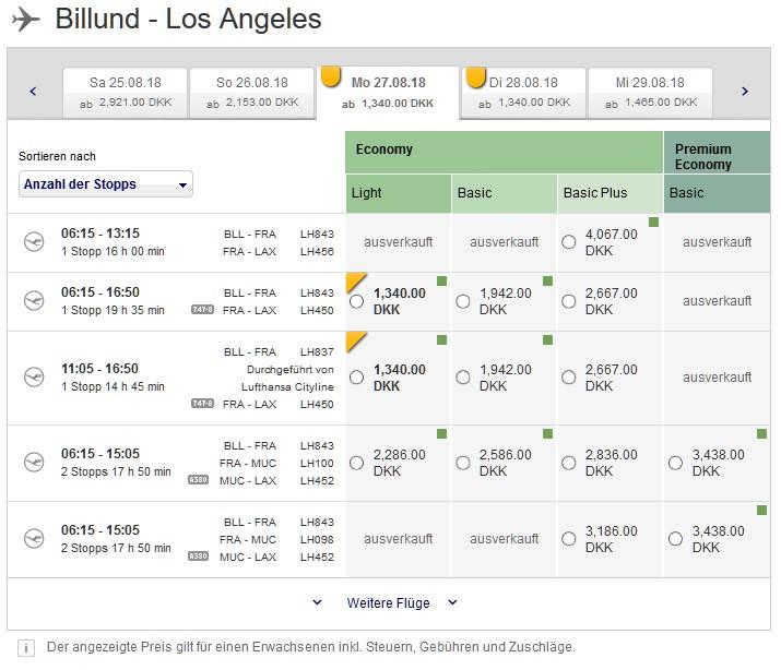 Günstiger Flug nach Los Angeles